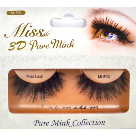 MISS 3D PURE MINK LASH - ML594