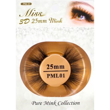 Miss 3D 25mm mink Lash - PML01