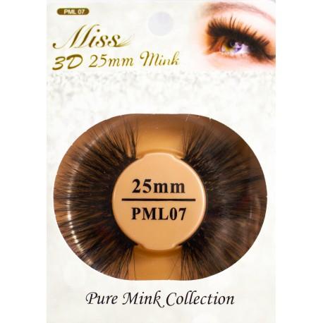 Miss 3D 25mm mink Lash - PML07