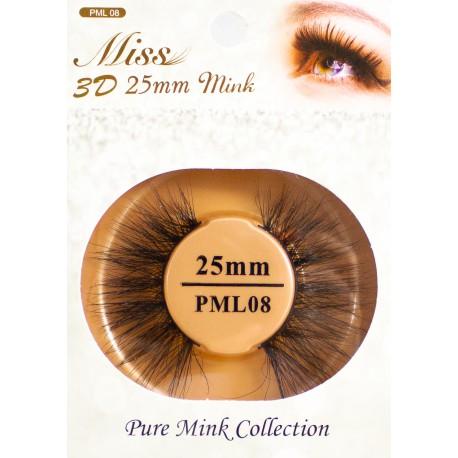 Miss 3D 25mm mink Lash - PML08